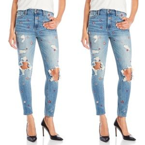 Lucky Brand Bridgette Skinny Embroidered Jeans